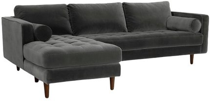 Article Sven Left Sectional Sofa Shadow Gray