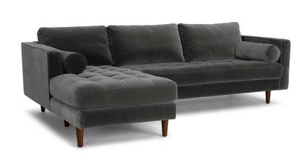 Sven Left Sectional Sofa Shadow Gray
