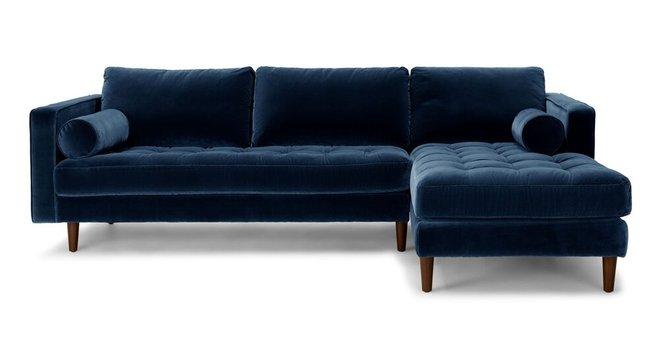 Sven Right Sectional Sofa Cascadia Blue