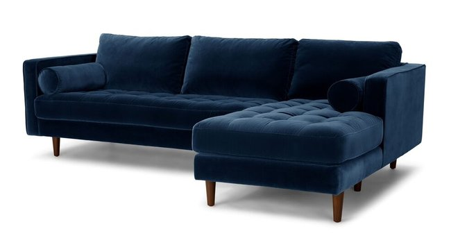 Sven Right Sectional Sofa Cascadia Blue