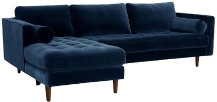 Article Sven Left Sectional Sofa Cascadia Blue