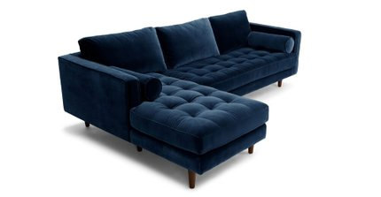 Sven Left Sectional Sofa Cascadia Blue