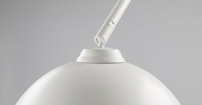 Crescent Floor Lamp White