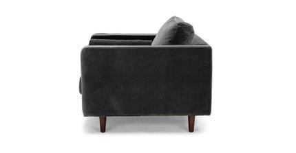 Sven Tufted Velvet Chair Shadow Gray