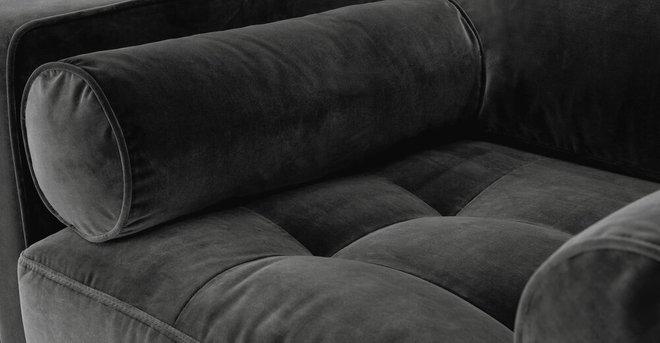 Article Sven Tufted Velvet Chair Shadow Gray