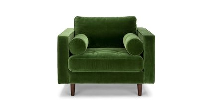 Sven Tufted Velvet Chair Grass Green