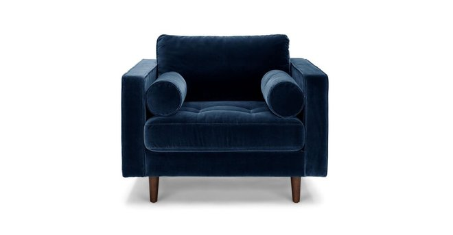 Article Sven Tufted Velvet Chair Cascadia Blue