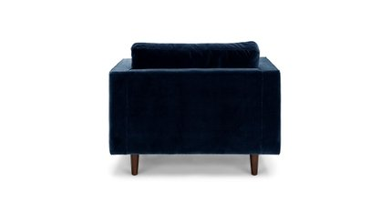 Sven Tufted Velvet Chair Cascadia Blue