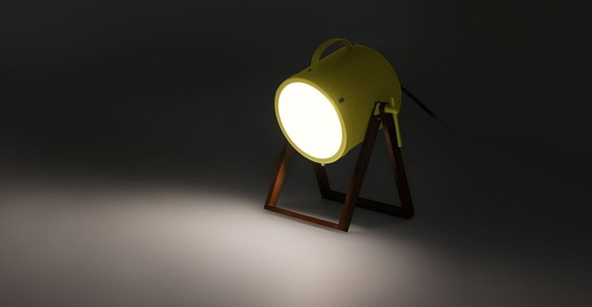 Spot Table Lamp Yellow