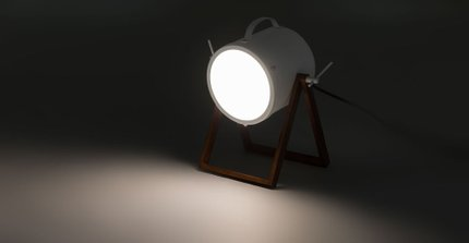 Spot Table Lamp White