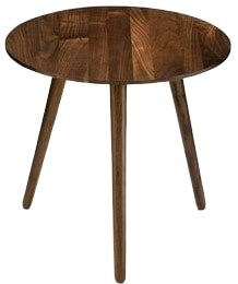 Amoeba Wild End Table Walnut