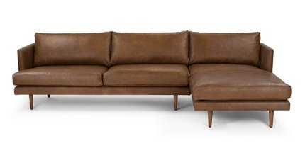Burrard Right Sectional Sofa Bella Tan