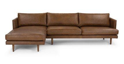 Burrard Left Sectional Sofa Bella Tan