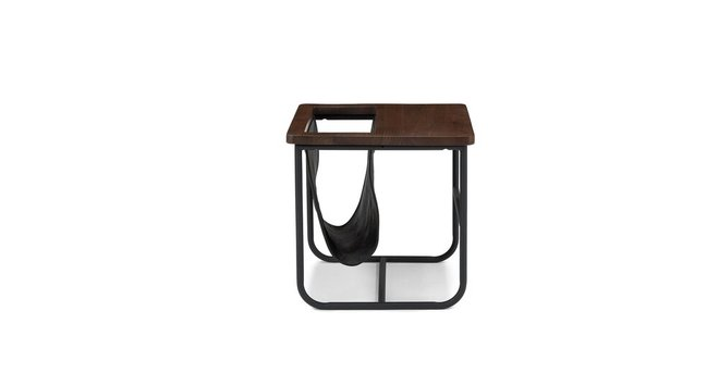 Article Maggi Side Table Walnut And Black