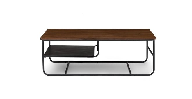 Maggi Contemporary Coffee Table Walnut