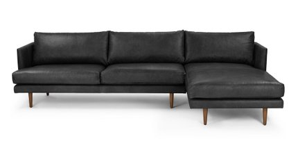 Burrard Right Sectional Sofa Bella Black