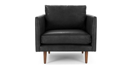Burrard Lounge Chair Bella Black