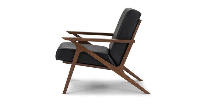 Otio Mid Century Modern Leather Chair Black