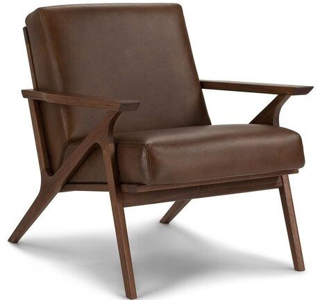 Article Otio Mid Century Modern Leather Chair Brown