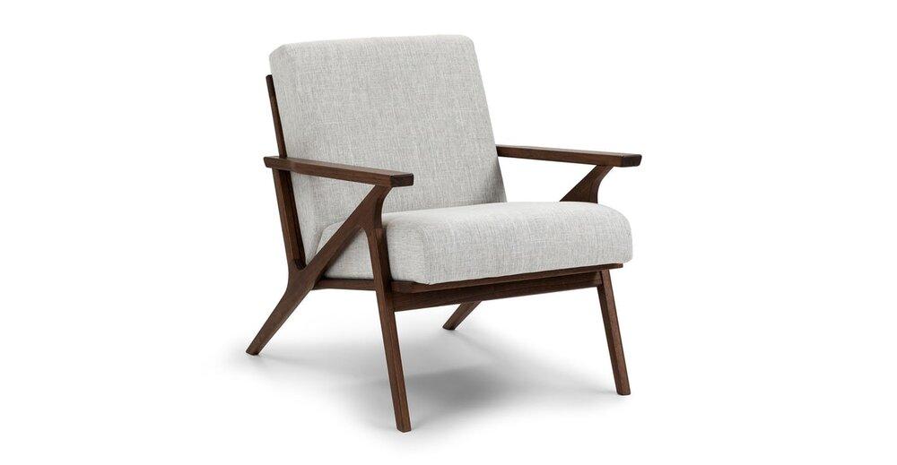 Marvelous Otio Mid Century Modern Armchair Gray Ocoug Best Dining Table And Chair Ideas Images Ocougorg
