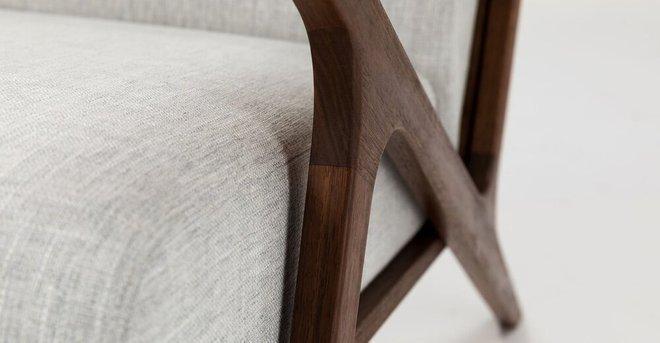 Otio Mid Century Modern Armchair  Gray