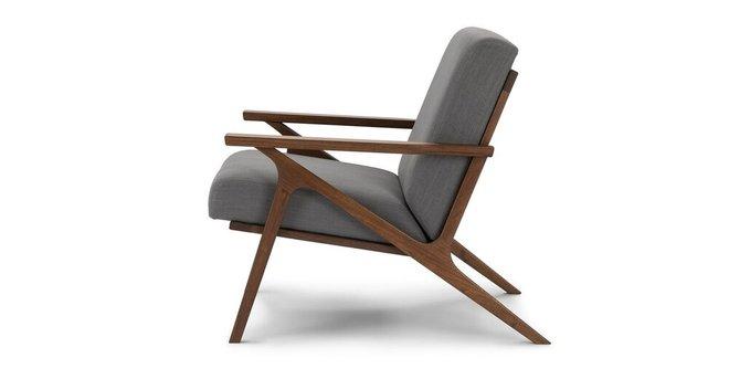 Otio Mid Century Modern Armchair Thunder Gray In Ny Chairs Casaone