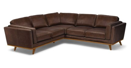 Timber Corner Sectional Charme Chocolat