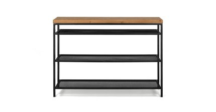 Taiga Contemporary Console Table Oak