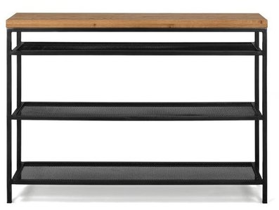 Article Taiga Contemporary Console Table Rustic Oak