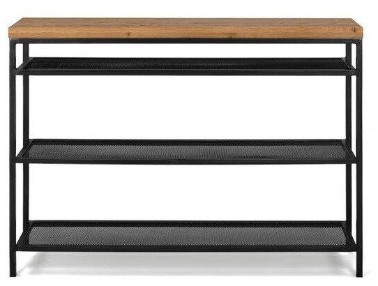 Article Taiga Contemporary Console Table Rustic Oak