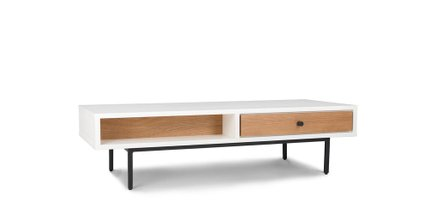 Bios Scandinavian Style Coffee Table White And Oak