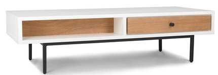 Article Bios Scandinavian Style Coffee Table White And Oak