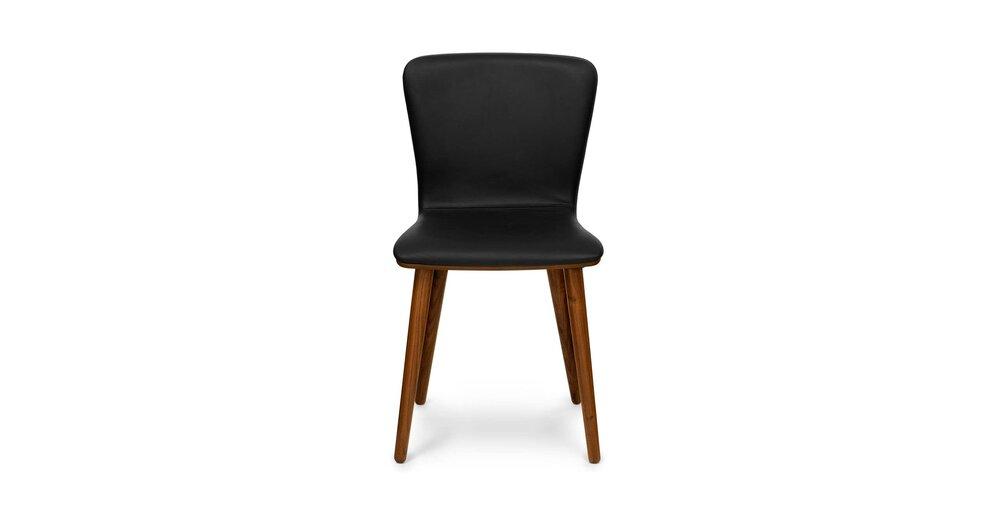 Fantastic Sede Mid Century Modern Dining Chair Leather Black Set Of 2 Creativecarmelina Interior Chair Design Creativecarmelinacom