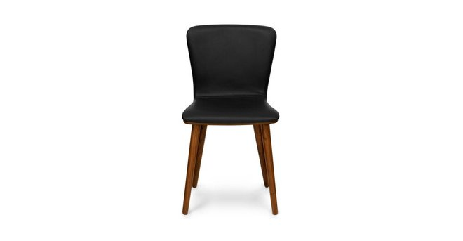 Sede Mid Century Modern Dining Chair Leather Black (Set Of 2)