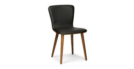 Fabulous Sede Mid Century Modern Dining Chair Leather Black Set Of 2 Creativecarmelina Interior Chair Design Creativecarmelinacom