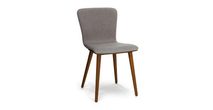 Sede Mid Century Modern Dining Chair Thunder Gray (Set Of 2)