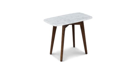 Vena Rectangular Side Table Walnut