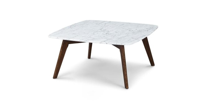 Article Vena Square Coffee Table Walnut
