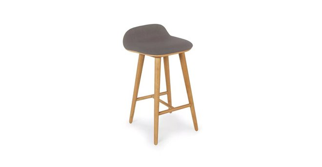 Article Sede Mid Century Modern Counter Stool Thunder Gray And Oak