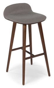 Sede Bar Stool Thunder Gray And Walnut