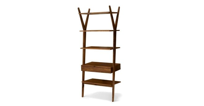 Lignum Mid Century Modern Book Shelf Walnut