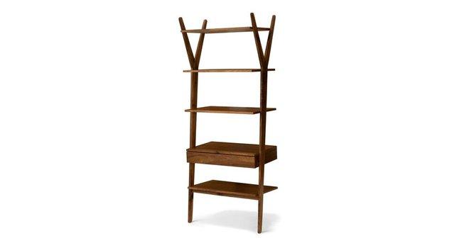 Article Lignum Mid Century Modern Bookshelf Walnut