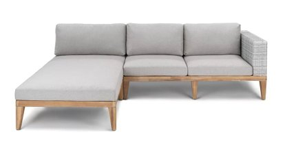 Urba Contemporary Left Extended Sectional Outdoor Sofa Beach Sand