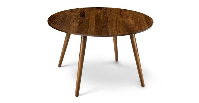 Article Seno Round Dining Table Walnut