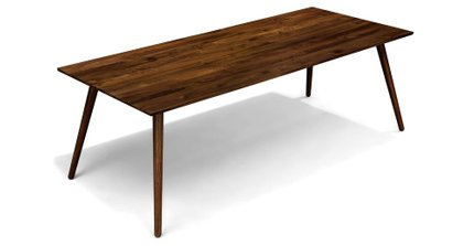 Seno Mid Century Modern Dining Table Walnut