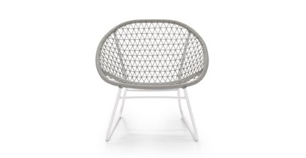 Bene Outdoor Lounge Chair Stone Gray