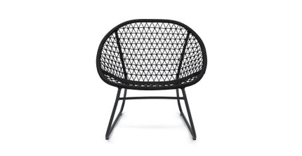 Bene Outdoor Lounge Chair Graphite Black