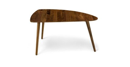 "Amoeba Wild 35"" Wide Coffee Table Walnut"