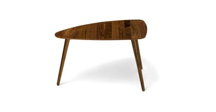 Amoeba Wild 29-5-Wide Coffee Table Walnut