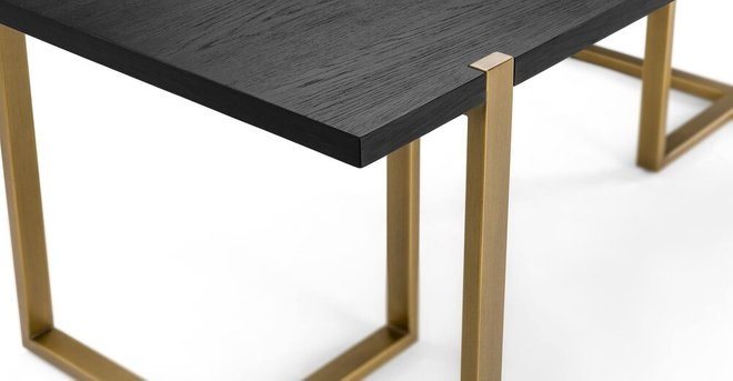 Oscuro Contemporary Dining Table Black